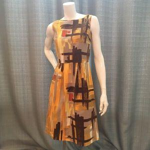 Anthropologie Tabitha 4 mustard dress